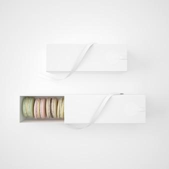 Pacchetti bianchi con macarons