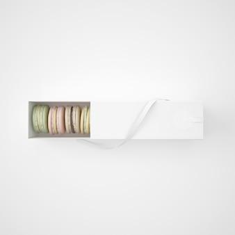 Pacchetto bianco con macarons