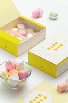 Packaging mock up di progettazione