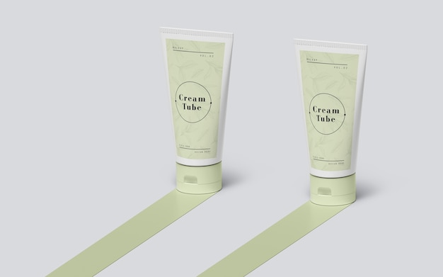 Packaging verde de productos cosméticos