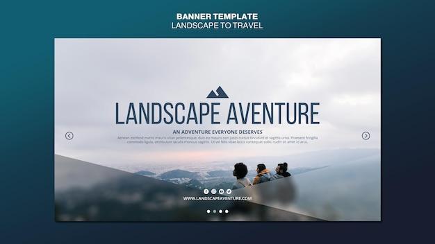 Paesaggio per modello di banner di concetto di viaggio