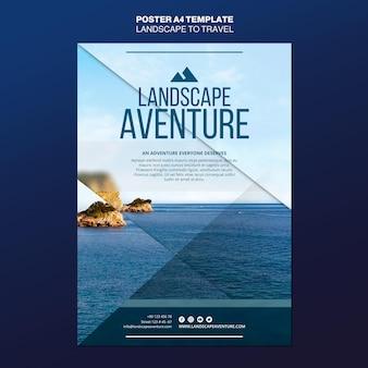 Paesaggio per modello di poster concetto di viaggio