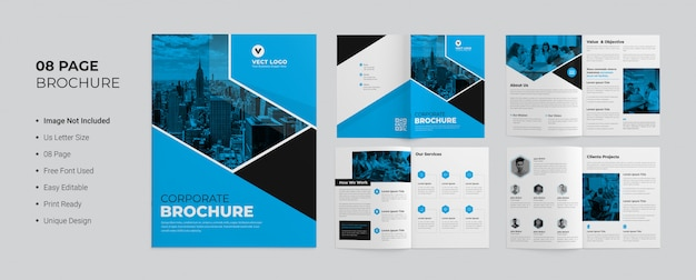 Pages corporate brochure sjabloon