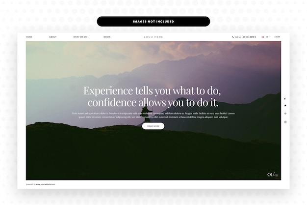 Página de aterrizaje corporativa, banner de héroe, plantilla web, diseño web