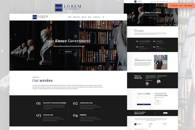 Pagina del sito web del governo