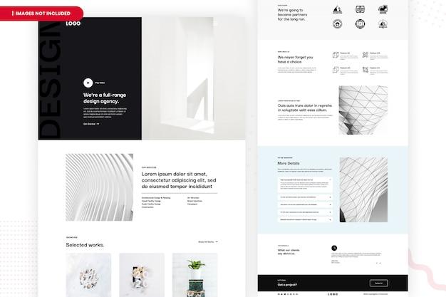 Pagina del sito web dell'agenzia di design