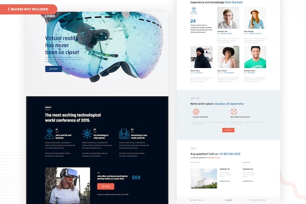Pagina del sito web di realtà virtuale