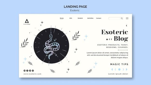 Página de destino para blog esotérico