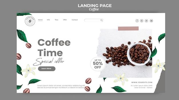 Página de destino para café