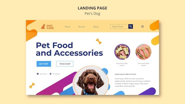 Página de destino para el negocio de la tienda de mascotas