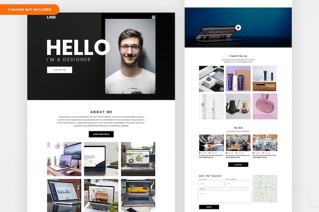 Pagina di destinazione del designer freelancer