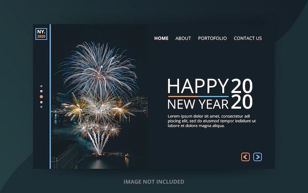 Pagina di destinazione del nuovo anno 2020