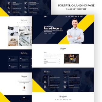 Pagina di destinazione del portfolio personale
