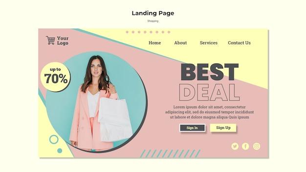 Pagina di destinazione dell'offerta migliore per lo shopping