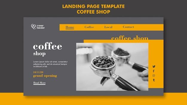 Pagina di destinazione della caffetteria