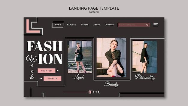 Pagina di destinazione della collezione di moda