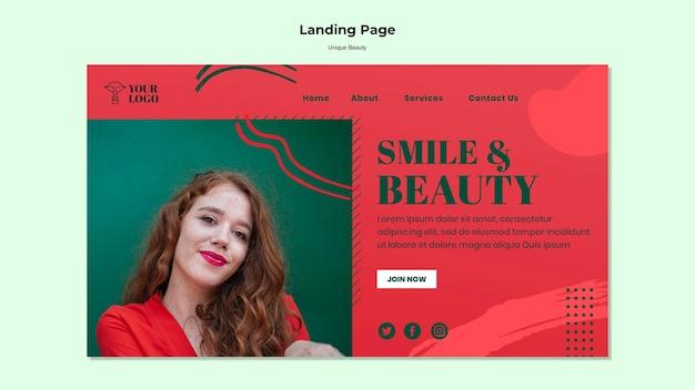Pagina di destinazione di bellezza unica