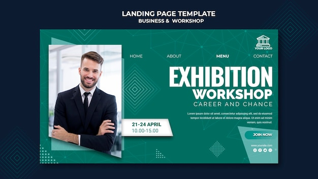 Pagina di destinazione di business e workshop