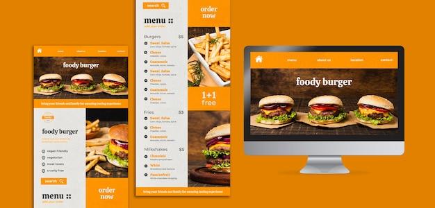 Pagina di destinazione settimana succosa di hamburger