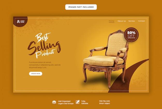 Pagina di destinazione web dei mobili