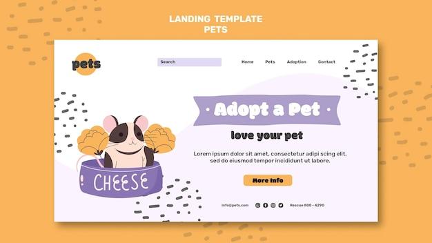 Página de inicio de adopción de mascotas