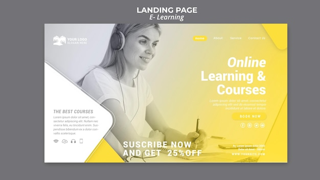 Página de inicio de aprendizaje electrónico