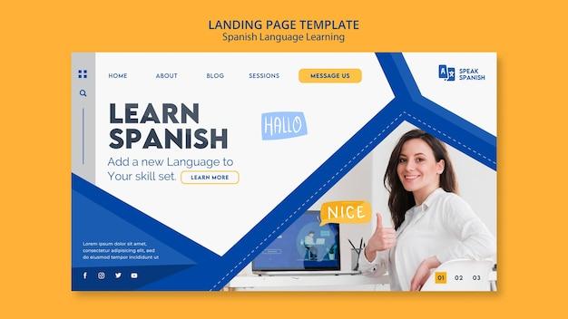 Página de inicio de aprendizaje del idioma español