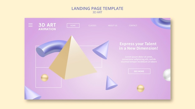 Página de inicio de arte 3d