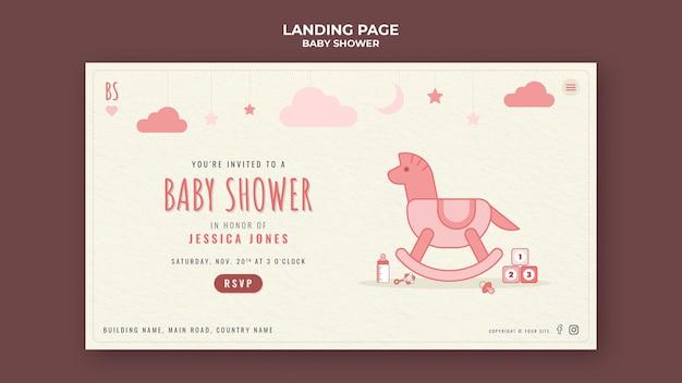 Página de inicio de baby shower