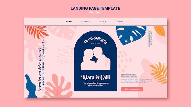 Página de inicio de boda