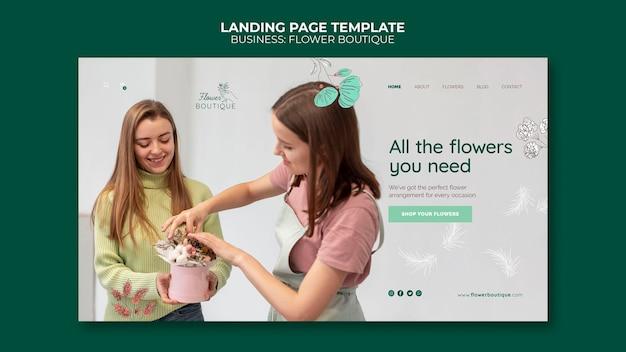 Página de inicio de boutique de flores
