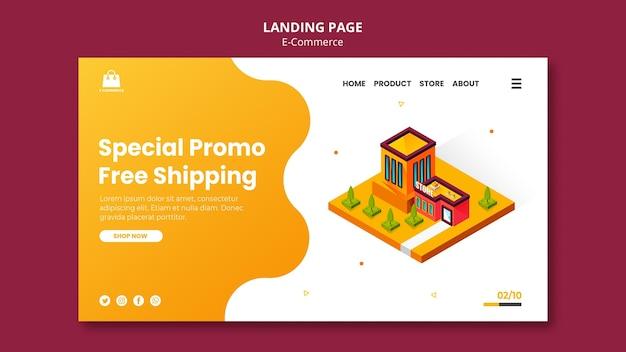 Página de inicio de comercio electrónico