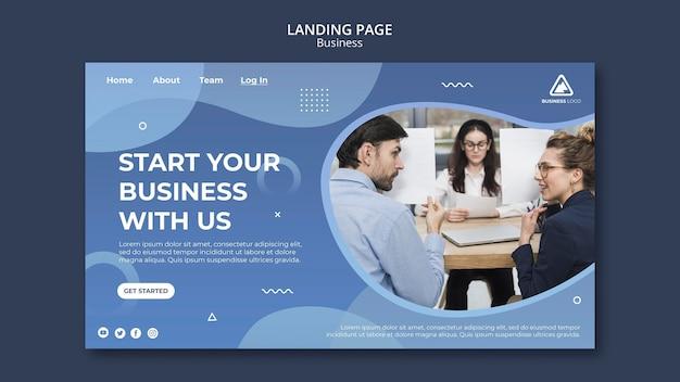 Página de inicio de concepto de negocio