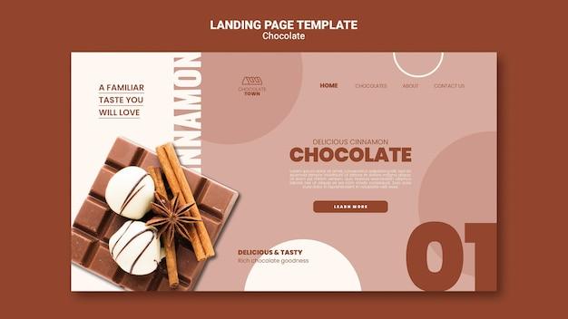 Página de inicio de delicioso chocolate