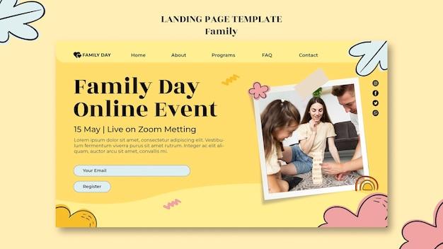Página de inicio del día de la familia
