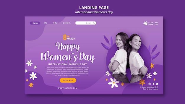 Página de inicio del día internacional de la mujer