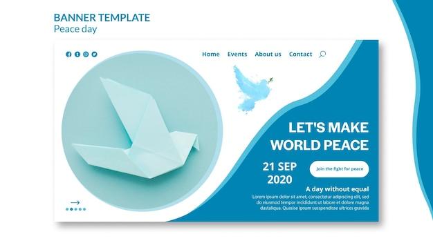Página de inicio del día internacional de la paz