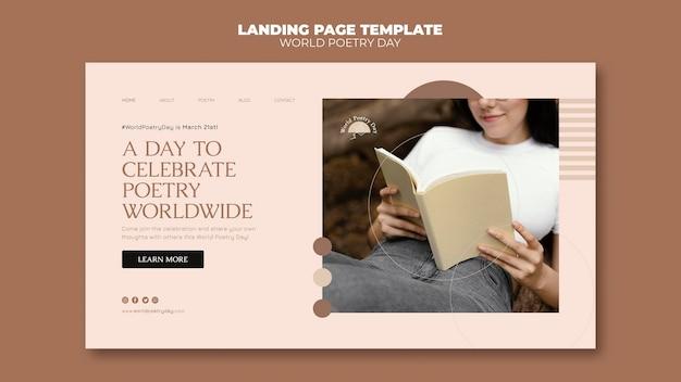 Página de inicio del día de la poesía