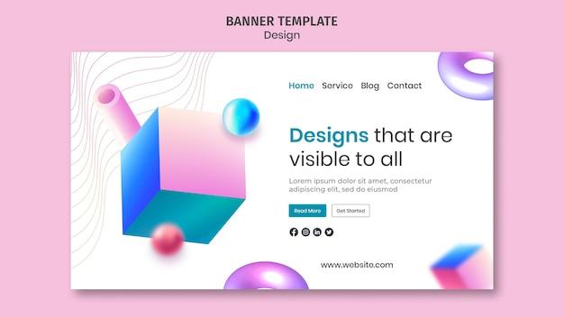 Página de inicio de diseños creativos en 3d
