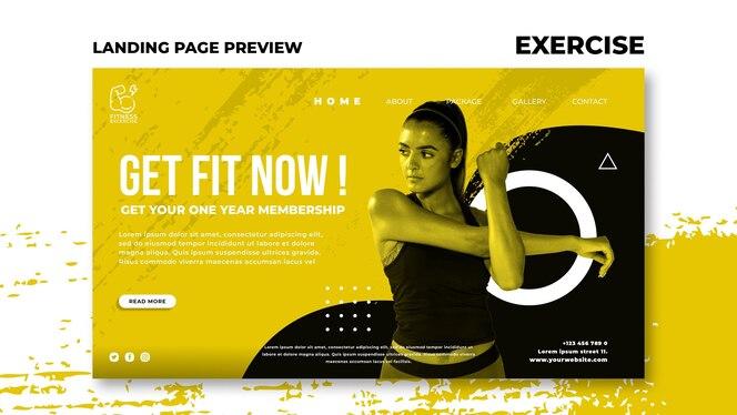 Página de inicio de ejercicio físico