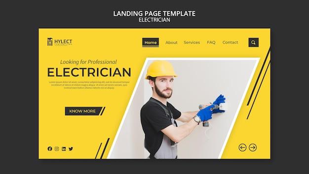 Página de inicio de electricista