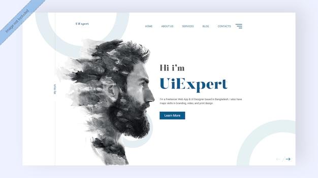 Página de inicio experta de ui