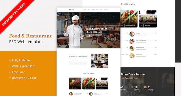 Página de inicio de food & restaurant