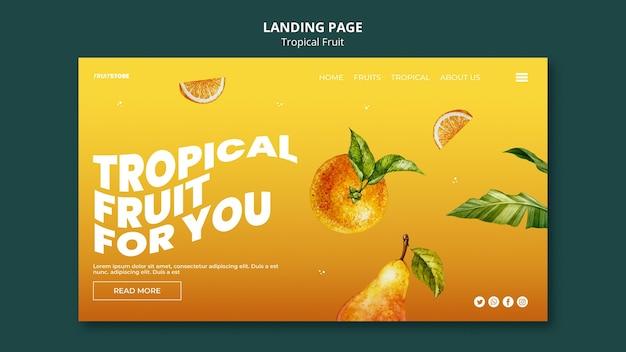 Página de inicio de frutas tropicales
