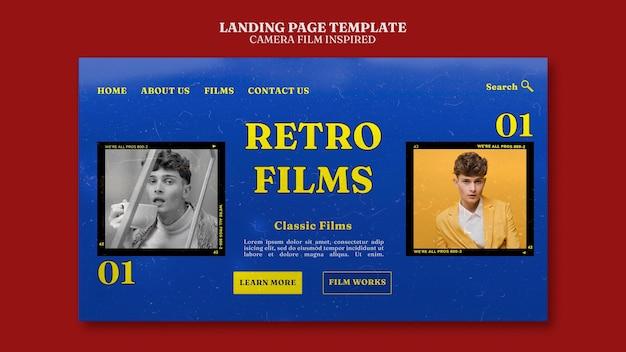 Página de inicio inspirada en la película de la cámara