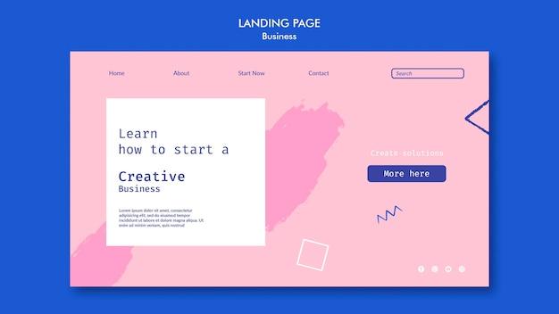 Página de inicio de negocios creativos
