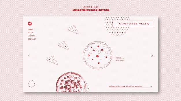 Página de inicio de plantilla de restaurante de pizza