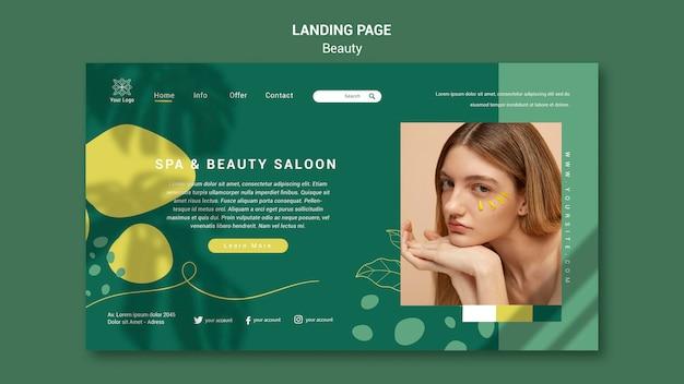 Página de inicio del salón de belleza