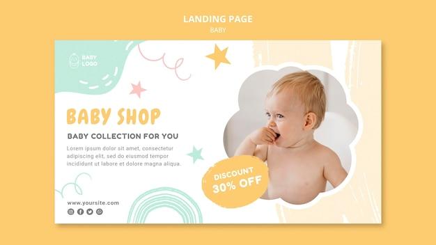 Página de inicio de la tienda para bebés
