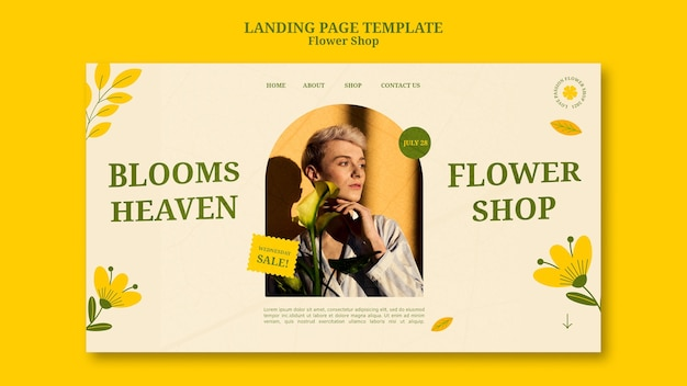 Página de inicio de la tienda de flores